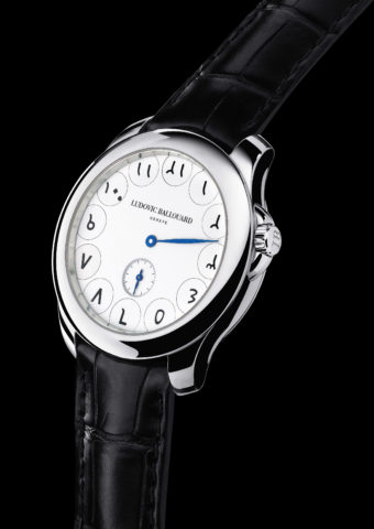 visuel de montre upside down hindu arabic white black